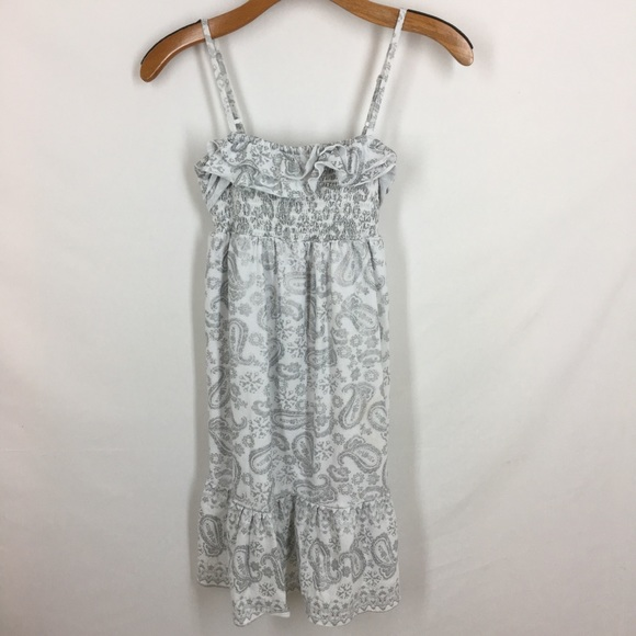 Justice Other - Justice Girls cotton sundress white silver Paisley
